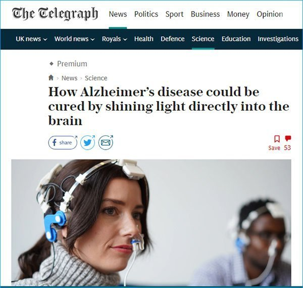 the Telegraph Alzheimers article