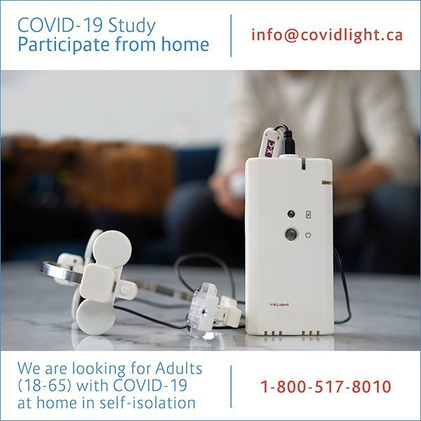 COVID-19 clinical trial Vielight
